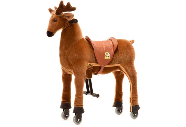 Animal Riding Rentier Rudi small, für Kinder von 3-5 Jahren (10 Kg - 40 Kg)