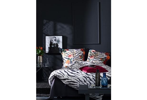 APELT Bettwäsche Johnny Moonlight weiß/schwarz/gold 40x80 cm