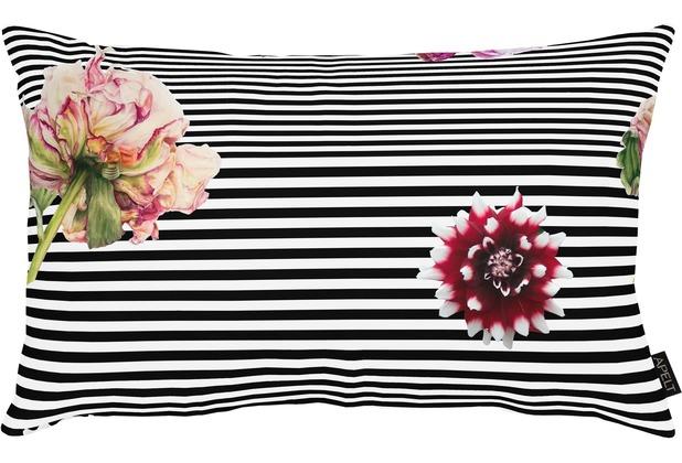 APELT Bettwäsche Selma Loft Dreams schwarz/weiß/pink 40x80 cm