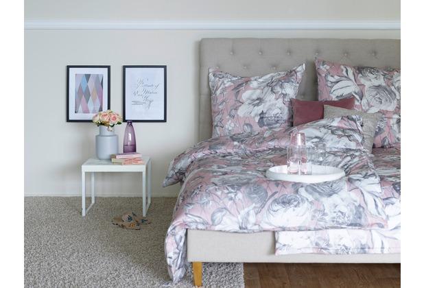 APELT Bettwäsche Sophie Coloured Nights rose/grau 135x200+80x80 cm