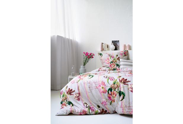 APELT Coloured Nights Bettwäsche Set taupe / rose / grün G135x200 cm