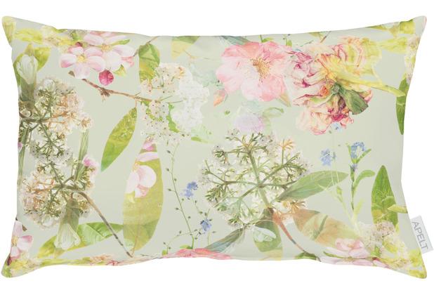 APELT Coloured Nights Kissenbezug grün / bunt 40x80 cm
