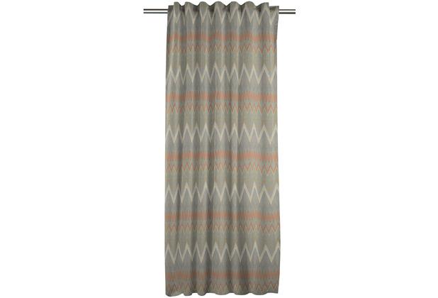 APELT Easy Elegance FVH. m. Universalband grau/orange 141x245 cm