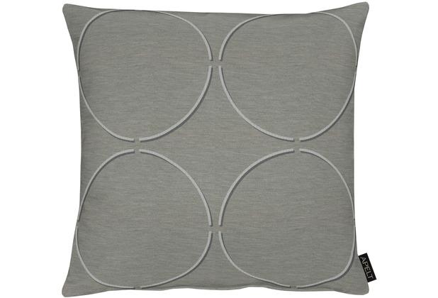 APELT Easy Elegance Kissenhülle grau 49x49 cm