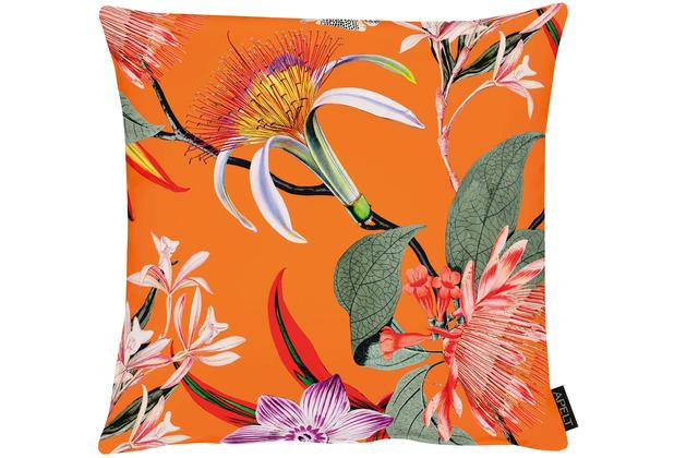 APELT Floral Living Kissen orange/bunt 45x45 cm