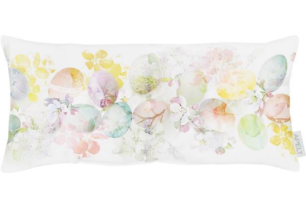 APELT Happy Easter Kissen weiß/pastellfarben 22x45 cm
