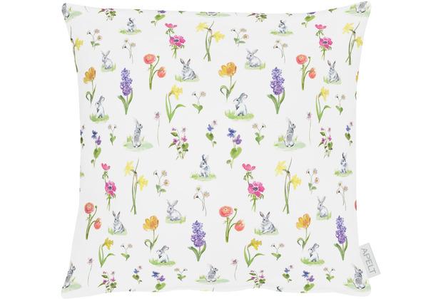 APELT Happy Easter Kissenhülle natur/gelb/bunt 40x40 cm