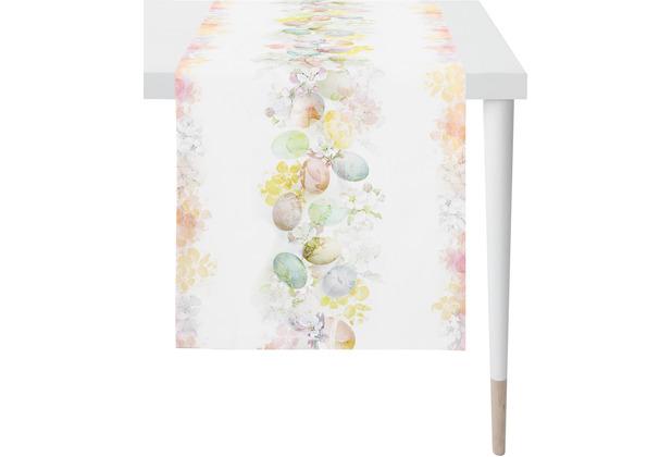 APELT Happy Easter Läufer weiß/pastellfarben 45x135 cm