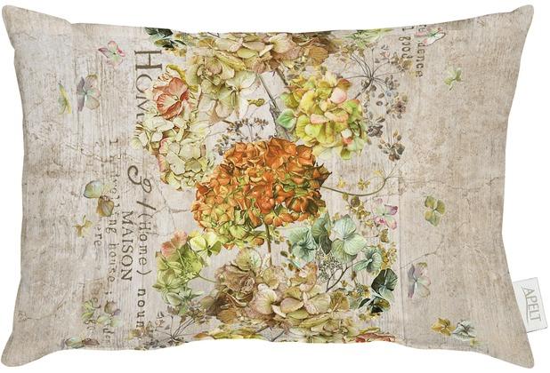 APELT Herbstzeit Kissen braun/terracotta/bunt 35x45