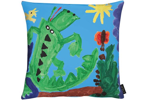APELT KIDS Collektion Kissen Bunt / blau / grün 45x45 cm