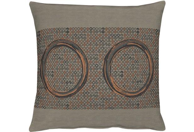 APELT Kissenhülle Loft Style, braun 46 cm x 46 cm, Kreise