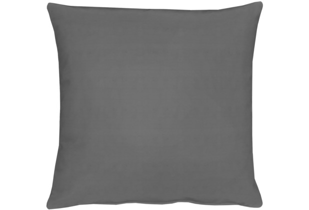 APELT Kissenhülle Uni Basic, dunkelgrau 40 cm x 40 cm
