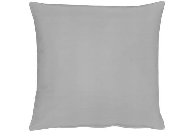 APELT Kissenhülle Uni Basic, hellgrau, schlicht 40 cm x 40 cm