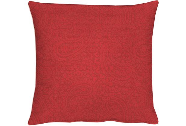 APELT Kissenhülle Uni Basic, rot, Barock 40 cm x 40 cm