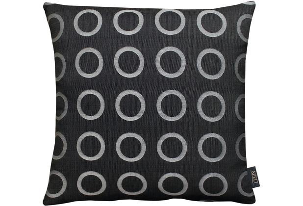 APELT Loft Style Kissen anthrazit 45x45, Kreismuster
