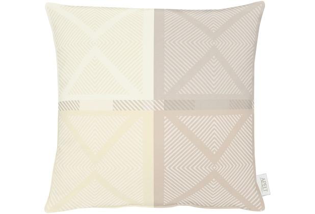 APELT Loft Style Kissen beige 48x48, Viertelmuster