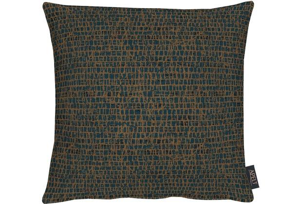 APELT Loft Style Kissen blau/kupfer 39x39, Schuppenmuster