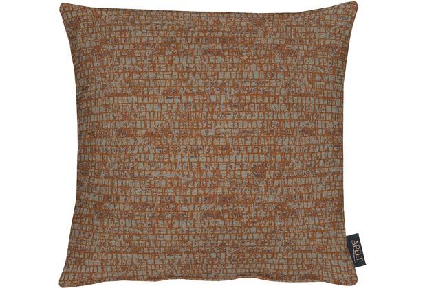 APELT Loft Style Kissen braun 39x39, Schuppenmuster