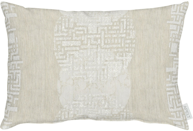 APELT Loft Style Kissen Grafikmusterung stein / natur / beige 35x50 cm