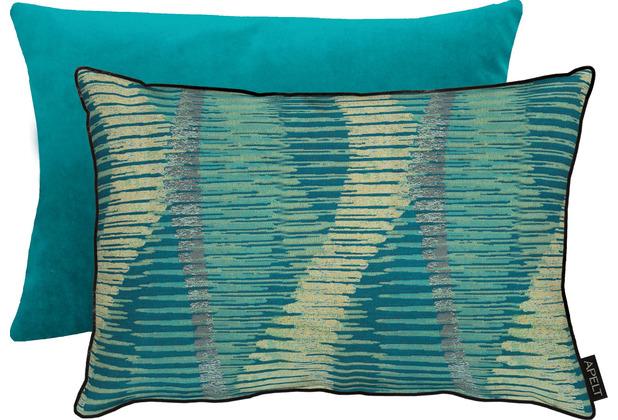 APELT Loft Style Kissen petrol 35x50 cm