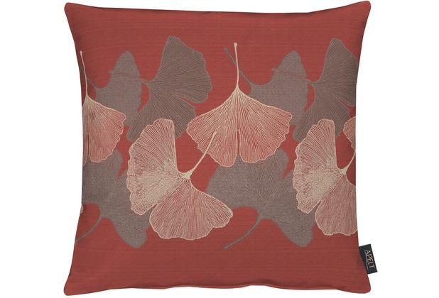 APELT Loft Style Kissen rot 45x45, Blattmuster