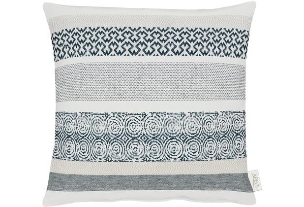 APELT Loft Style Kissen schwarz/weiß 45x45