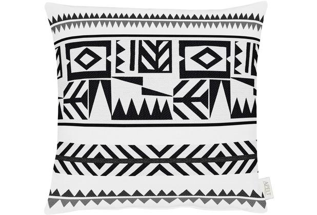 APELT Loft Style Kissen schwarz/weiß 45x45, Formenmuster