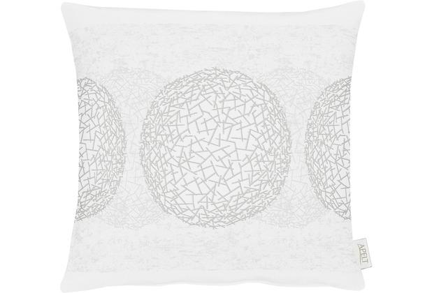APELT Loft Style Kissen weiß/silber 45x45