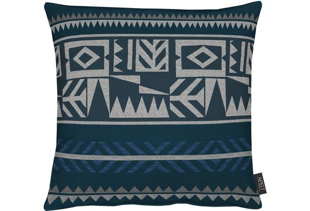 APELT Loft Style Kissenhülle blau/antrazit 46x46