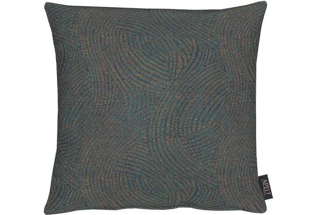 APELT Loft Style Kissenhülle blau/kupfer 40x40, Linienmuster