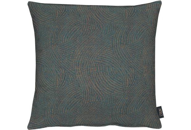 APELT Loft Style Kissenhülle blau/kupfer 49x49, Linienmuster