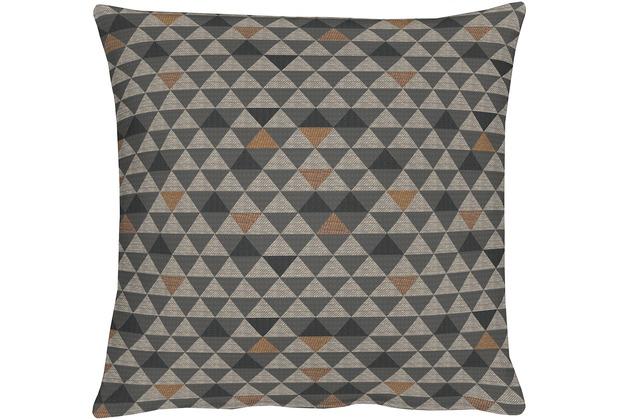 APELT Loft Style Kissenhülle braun 40x40, Dreiecksmuster