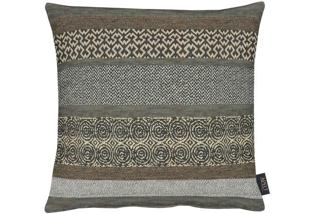 APELT Loft Style Kissenhülle braun 46x46, abstrakt