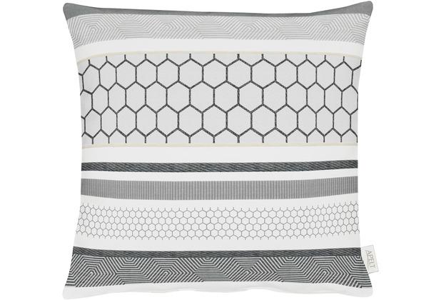 APELT Loft Style Kissenhülle hellgrau 46x46, gemustert