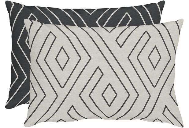 APELT Loft Style Kissenhülle natur/schwarz 41x61