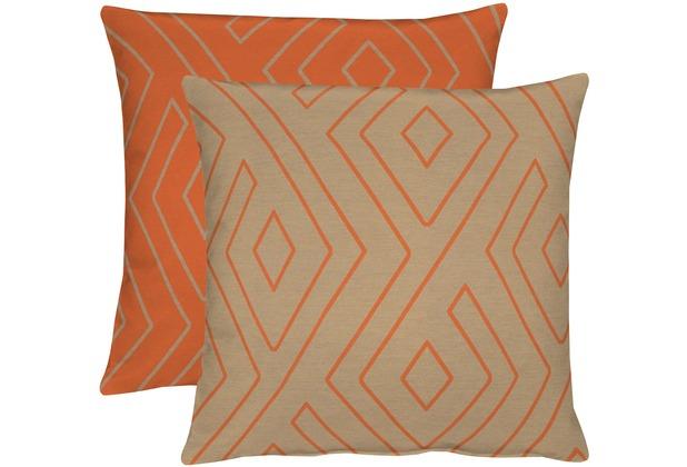 APELT Loft Style Kissenhülle orange/taupe 46x46