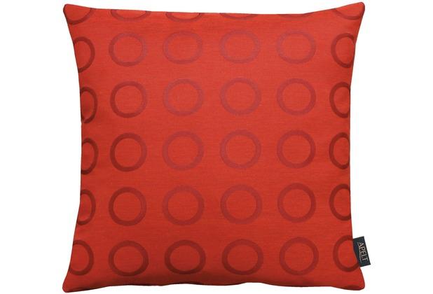 APELT Loft Style Kissenhülle rot 46x46, Kreismuster