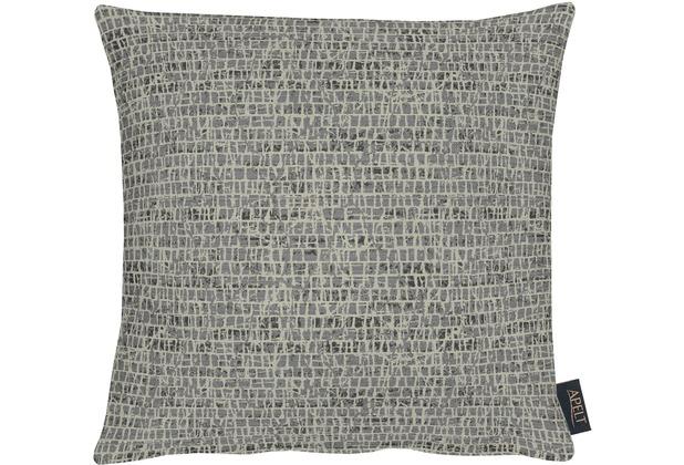 APELT Loft Style Kissenhülle schwarz 40x40, Schuppenmuster