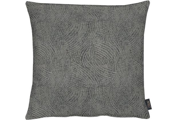 APELT Loft Style Kissenhülle schwarz 49x49,Linienmuster