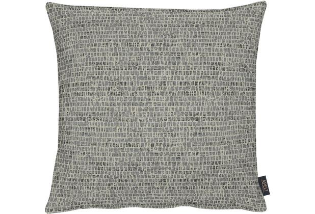 APELT Loft Style Kissenhülle schwarz 49x49, Schuppenmuster