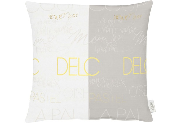 APELT Loft Style Kissenhülle weiß/beige/gelb 49x49