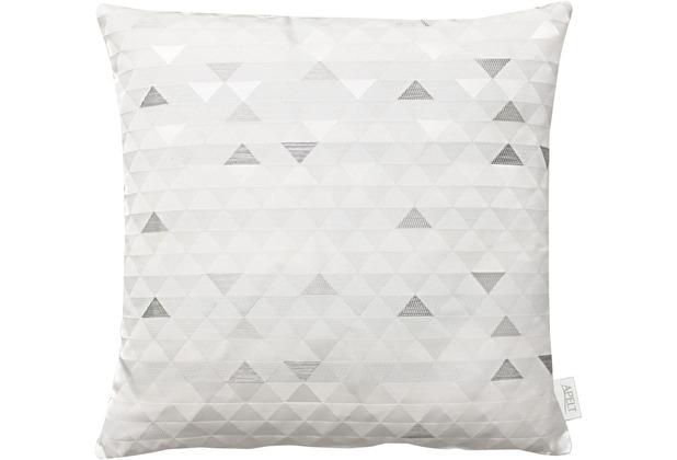 APELT Loft Style Kissenhülle weiß/kupfer 49x49
