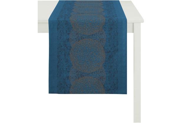 APELT Loft Style Läufer blau/kupfer 48x140, Kugelmuster