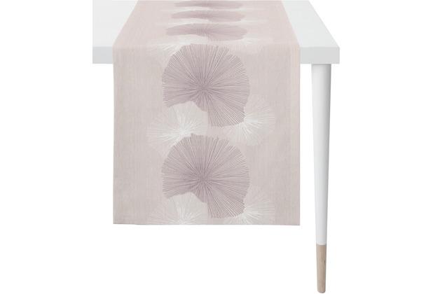 APELT Loft Style Läufer flieder 48x140 cm, Pflanzenmuster