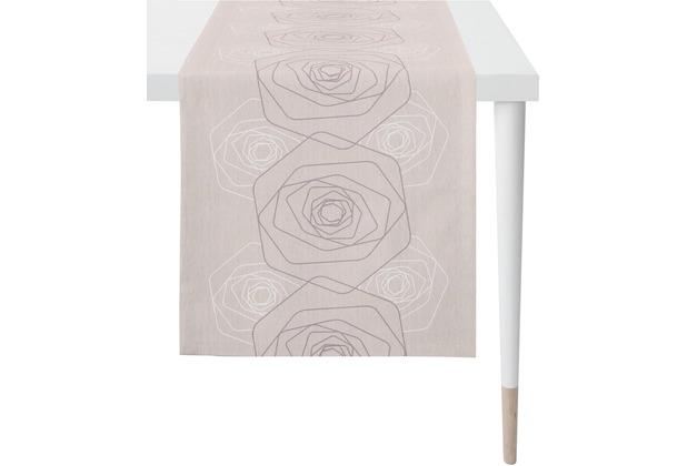APELT Loft Style Läufer flieder 48x140 cm, Rosenmuster
