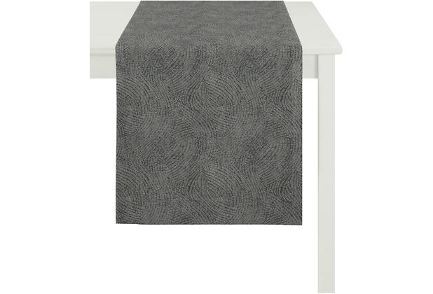 APELT Loft Style Läufer schwarz 48x140, Linienmuster