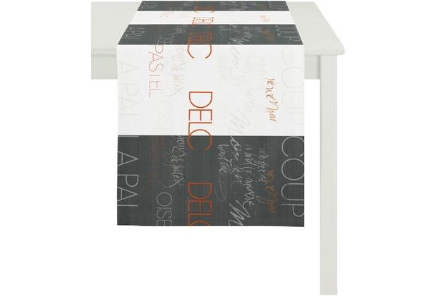 APELT Loft Style Läufer schwarz/weiß 44x140, Worte