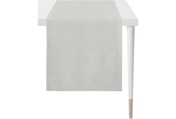 APELT Loft Style Läufer Uni hellgrau 48x145 cm