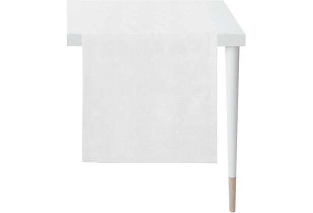 APELT Loft Style Läufer Uni weiß / silber 48x145 cm