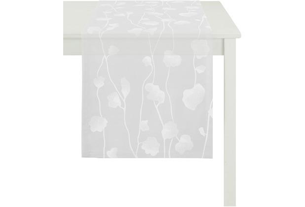APELT Loft Style Läufer weiß 48x140, Pflanzenmuster klein